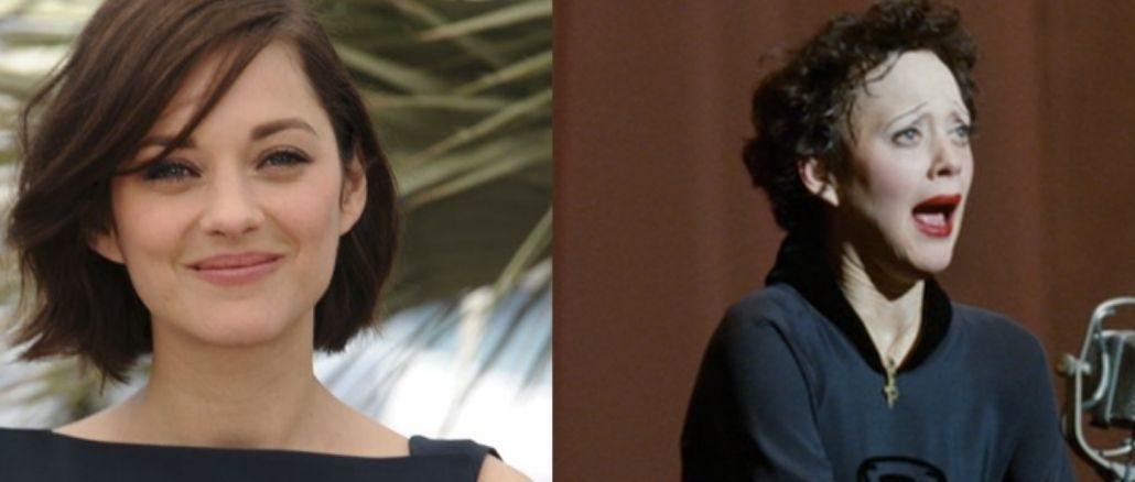 deux photos de marion cotillard dont l'une dans son rôle de la môme